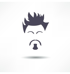 Face of a man with a beard vector image