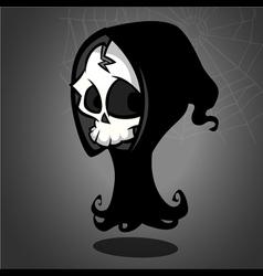 Halloween grim reaper cartoon vector image