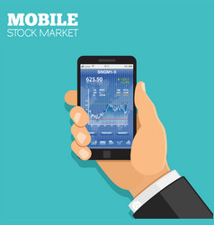 mobile stock market vector image vector image