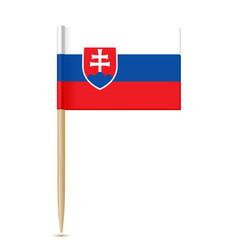 slovakia flag toothpick vector image vector image