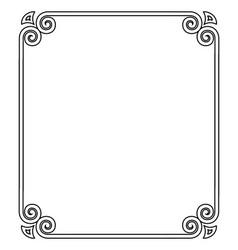 thin black ornamental frame on vector image vector image