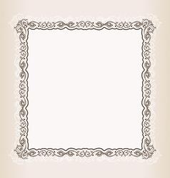 vintage Square frame retro pattern ornament vector image vector image