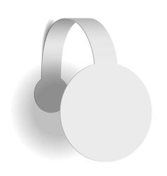White advertising wobbler vector image
