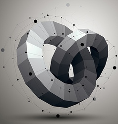 3D abstract design object polygonal complicated vector image vector image