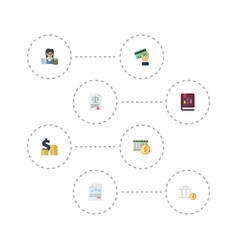 flat icons act deadline paper and other vector image vector image