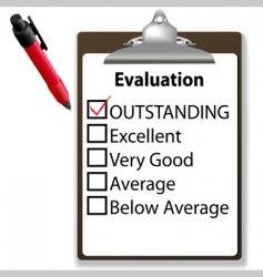 job evalution check vector image