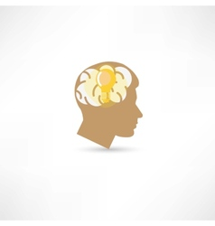 man with idea icon vector image vector image