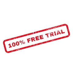 100 percent free trial text rubber stamp vector