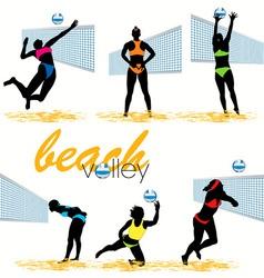 beach volley vector image vector image