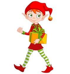 christmas elf royalty free vector image vectorstock rh vectorstock com Christmas Vector Graphics Christmas Elf Legs Vector