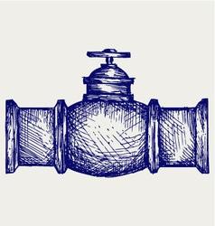 Industrial pipeline part vector image
