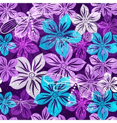 Seamless vivid floral spring pattern vector image vector image