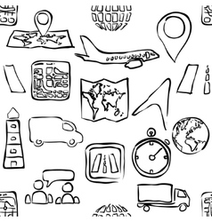 Sketch logistic seamless pattern vector