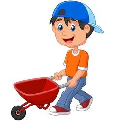 with wheelbarrow vector image
