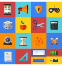 flat modern icons set Eps 10 vector image