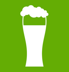 glass of beer icon green vector image