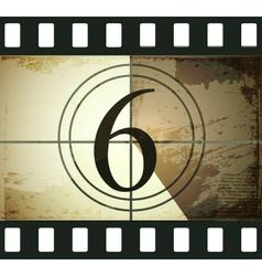 Grunge film countdown vector image vector image
