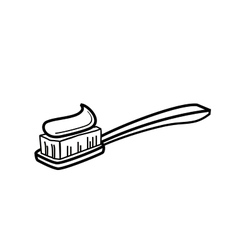 Toothbrush icon vector image
