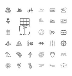 33 travel icons vector