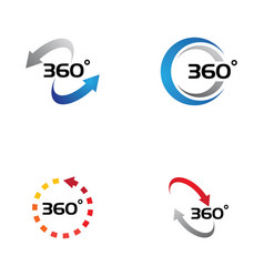 360 degree view related icons vector