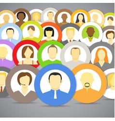 Account icons men and women vector
