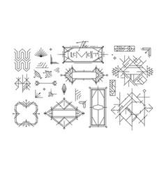 Art deco vintage design elements vector