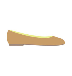 ballet shoe icon flat style vector image
