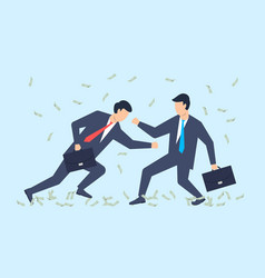battle business businessmen are fighting vector image