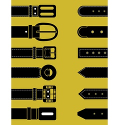Belts for clothing Schematic image vector image