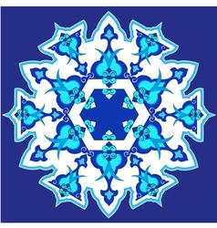Blue oriental ottoman design thirty vector