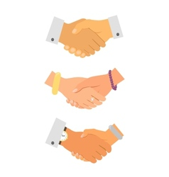 Business handshake iconset vector image
