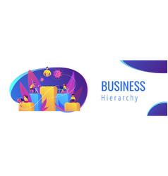 Business hierarchy concept banner header vector