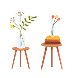 chairs or small tables clip art objects with vector image
