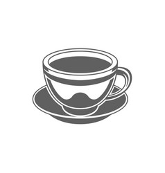 coffee or tea cup coffee cup vector image
