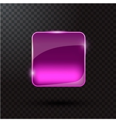 Colored glass button for web interface vector image