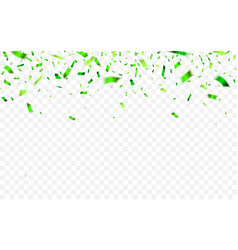 colorful confetti for saint patricks day vector image