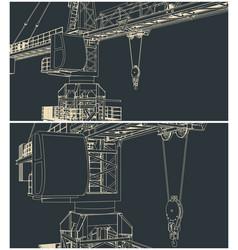 construction crane outline vector image