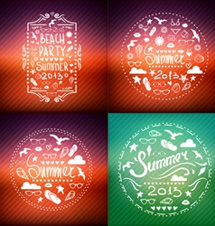 creative graphic poster SET for your design vector image