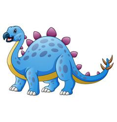 Cute stegosaurus cartoon isolated on white backgro vector