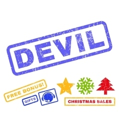 Devil Rubber Stamp vector