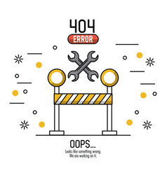 Error 404 infographic vector