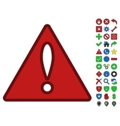 Error Symbol With Toolbar Icon Set vector