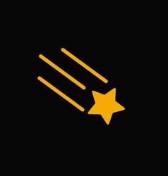 Falling star icon vector