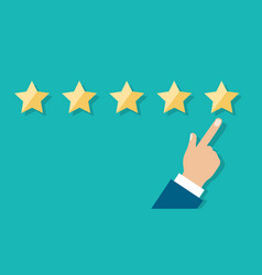 five star survey opinion vector image