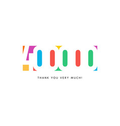 four hundred thousand subscribers baner colorful vector image