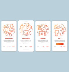 Generation onboarding mobile app page screen vector
