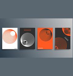Geometric minimal design for flyer poster vector