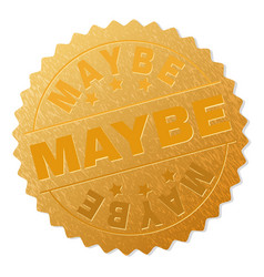 Gold maybe medal stamp vector
