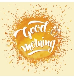 Good morning brush calligraphy vector image