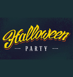 halloween party lettering vector image